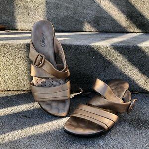 Walking Cradles Hold Leather Sandals 7 Wide